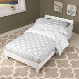Simple Toddler Bed Classic White for Kids Children Bedroom Kidsroom