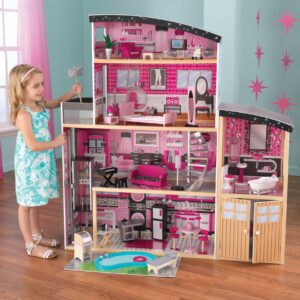 Sparkle Mansion Dolls House with Furniture