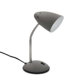 Study Lamp Grey for kids Children Desk Bedside Table Metal