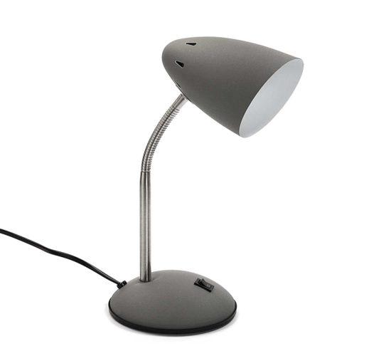 Study Lamp Grey for kids Children Desk Bedside Table Metal
