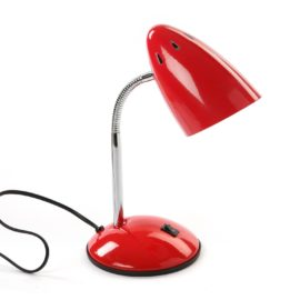 Study Lamp Red for kids Children Desk Bedside Table Metal