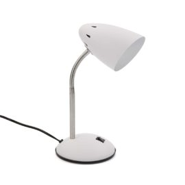 Study Lamp White for kids Children Desk Bedside Table Metal