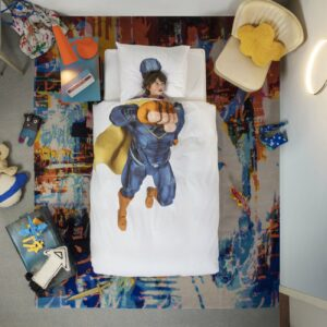 Superhero Duvet Set - White (Single)