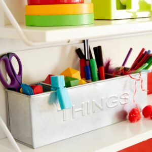 Things Desk Top Storage Bin - White