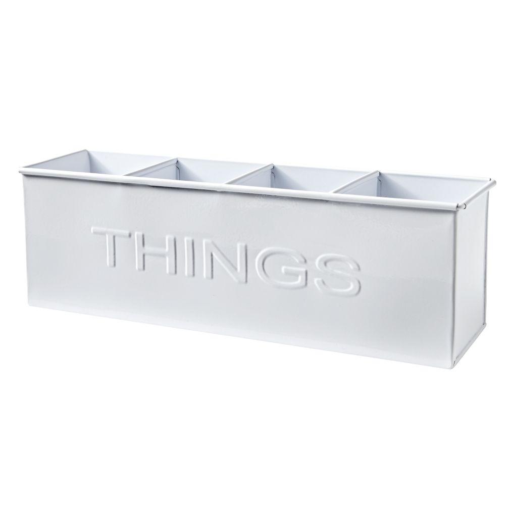 Things Desk Top Storage Bin - White