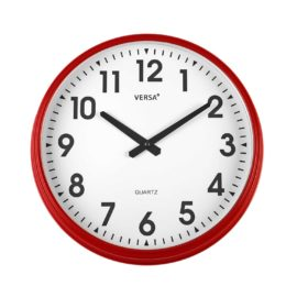 Wall Clock Red 37cm Kids Children Bedroom Playroom Decor Accessories