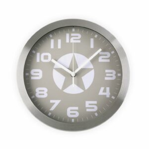 Wall Clock, Star - Grey
