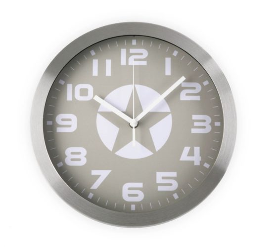 Wall Clock, Star - Grey