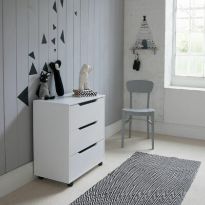Chest of Drawers on Castors - White by Little Folks