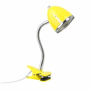 Clips Lamp with Chrome Edge - Yellow by Lifetime Kidsrooms