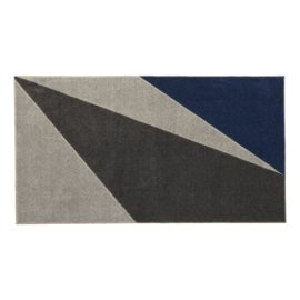 Rug Grey Geometric Navy Dark Grey for Kids Children Polyester Bedroom Playroom Boys