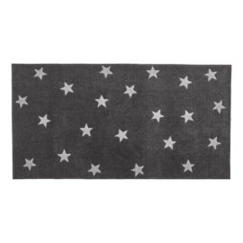 Rug Grey Stars for Kids Children Polyester Bedroom Playroom