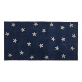 Rug Stars Navy and Light Grey for Kids Children Polyester Bedroom Playroom