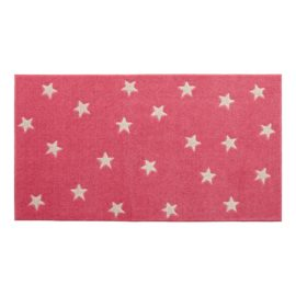 Rug Stars Pink and Light Pink for Kids Children Polyester Bedroom Playroom