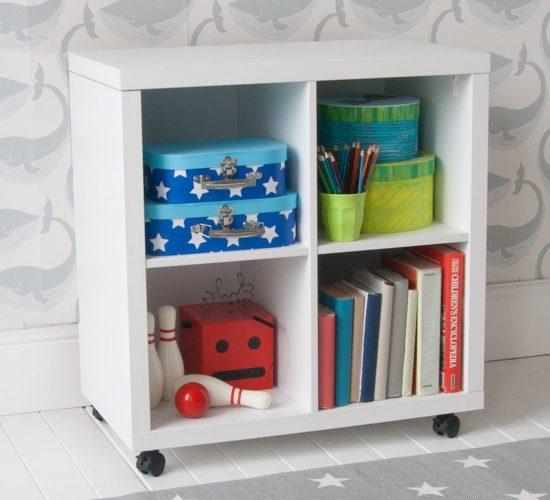 Storage Bookcase on Castors - White by Little Folks