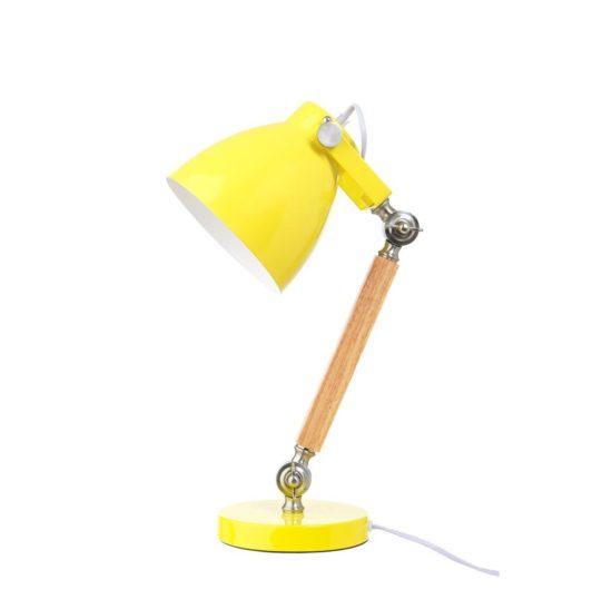 Wood/Metal Desk Lamp - Yellow