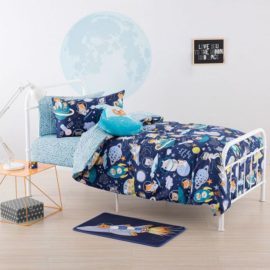 Zoom to the Moon Duvet Set for Kids Children Space Cotton Bedroom Pillowcase