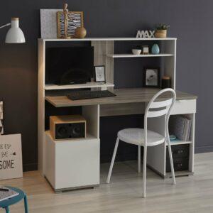 Brooklyn Computer Desk - White/Silex Oak