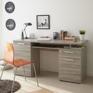 Harvey Study Desk - Flintstone Oak