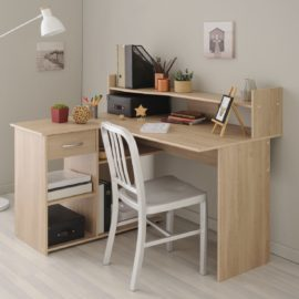 Montana Corner Desk Oak Finish Kids Children Homework Study Furniture