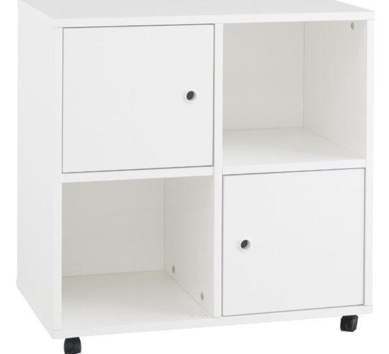 Simple Quadrant Storage Unit - White by Little Folks