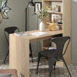 Willow Desk with Shelves - Blond Oak