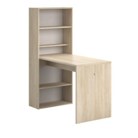Willow Desk for Kids Children Homework Blond Oak Study Bookcase