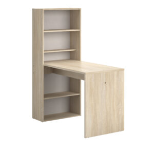 Willow Desk with Shelves - Blond Oak