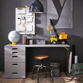 Chase Desk for Kids Children Grey Solid Wood Furniture Study