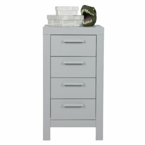 Dennis 4 Drawer Chest - Grey