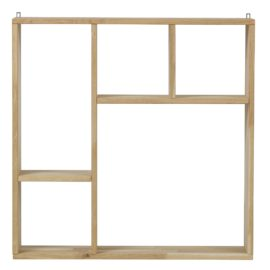 Kris 5 Compartment Collectors Cabinet for kids Childrens Bedrooms Wall Storage Solid Untreated FSC Oak