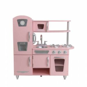 Vintage Wooden Play Kitchen - Pink