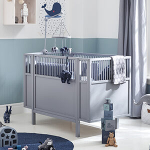 Baby Cot with Adjustable Base - Grey by Lifetime Kidsrooms