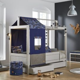Cool Blue Camo Bed with Underbed Drawers Grey Kids Lifetime Kidsrooms Boys Children Bedroom Beds Storage Furniture Tent Canopy Solid Wood