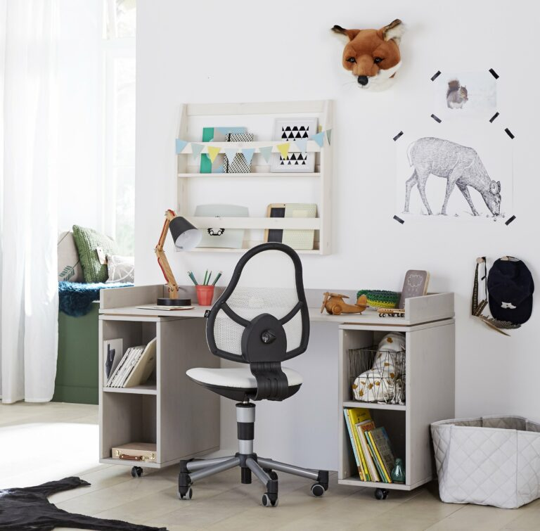 Desk on Castors with Cupboard Unit - Grey by Lifetime Kidsrooms