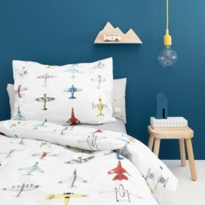Airplane Duvet Set - White (Single)