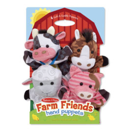 Farm Friends Hand Puppets Kids Children Toys Pretend Play Melissa & Doug