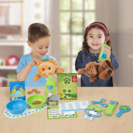 Feeding and Grooming Pet Care Set for Kids Children Animals Pretend Play Toys Melissa & Doug
