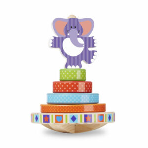 Wooden Rocking Elephant Stacker