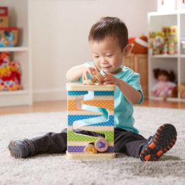 First Play Wooden Safari Zig-Zag Tower With 4 Rolling Pieces Kids Children Toddler Melissa & Doug