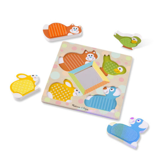 Wooden Touch & Feel Peek-a-Boo Puzzle