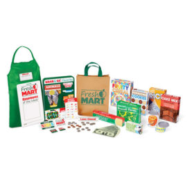 Fresh Mart Grocery Store Companion Collection for Kids Children Pretend Play Wooden Toys Fun Shopping Credit Card