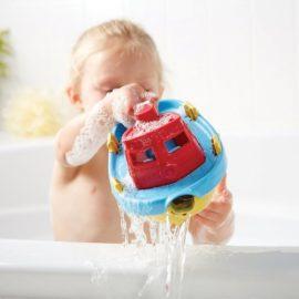 Green Toys Tug Boat for Kids Children Bath Toys