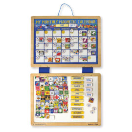 My Monthly Magnetic Calendar for Kids Children Wooden Charts Planners Melissa & Doug
