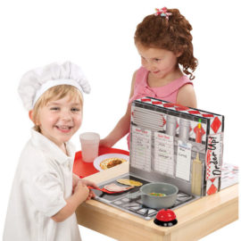 Order Up Diner Play Set for Kids Food Restuarant Cooking pretend Play Toys Melissa & Doug