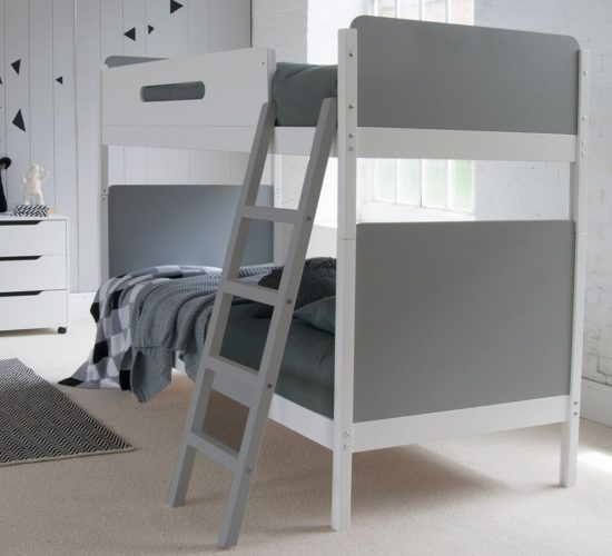 Simple Bunk Bed - Grey/White by Little Folks