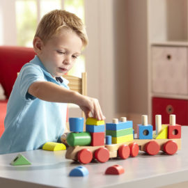 Stacking Train Toddler Toy Wooden Classic Kids Children Fun Toys Melissa & Doug