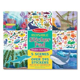 Under the Sea Reuseable Sticker Pad for Kids Children on the go toys fun games Melissa & Doug