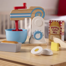Wooden Make a Cake Mixer Set for Kids Children Food Pretend Play Food Kitchen Play Toys Baking