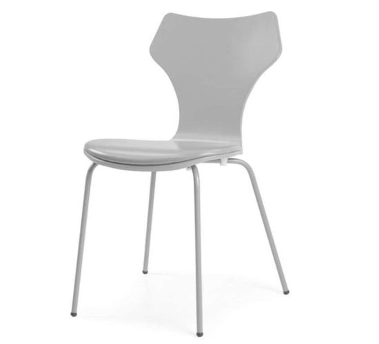 Lolly Chair with Padded Seat - Grey
